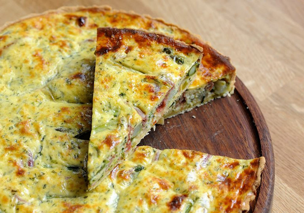 Vegetable Quiche In a Whole Grain Crust